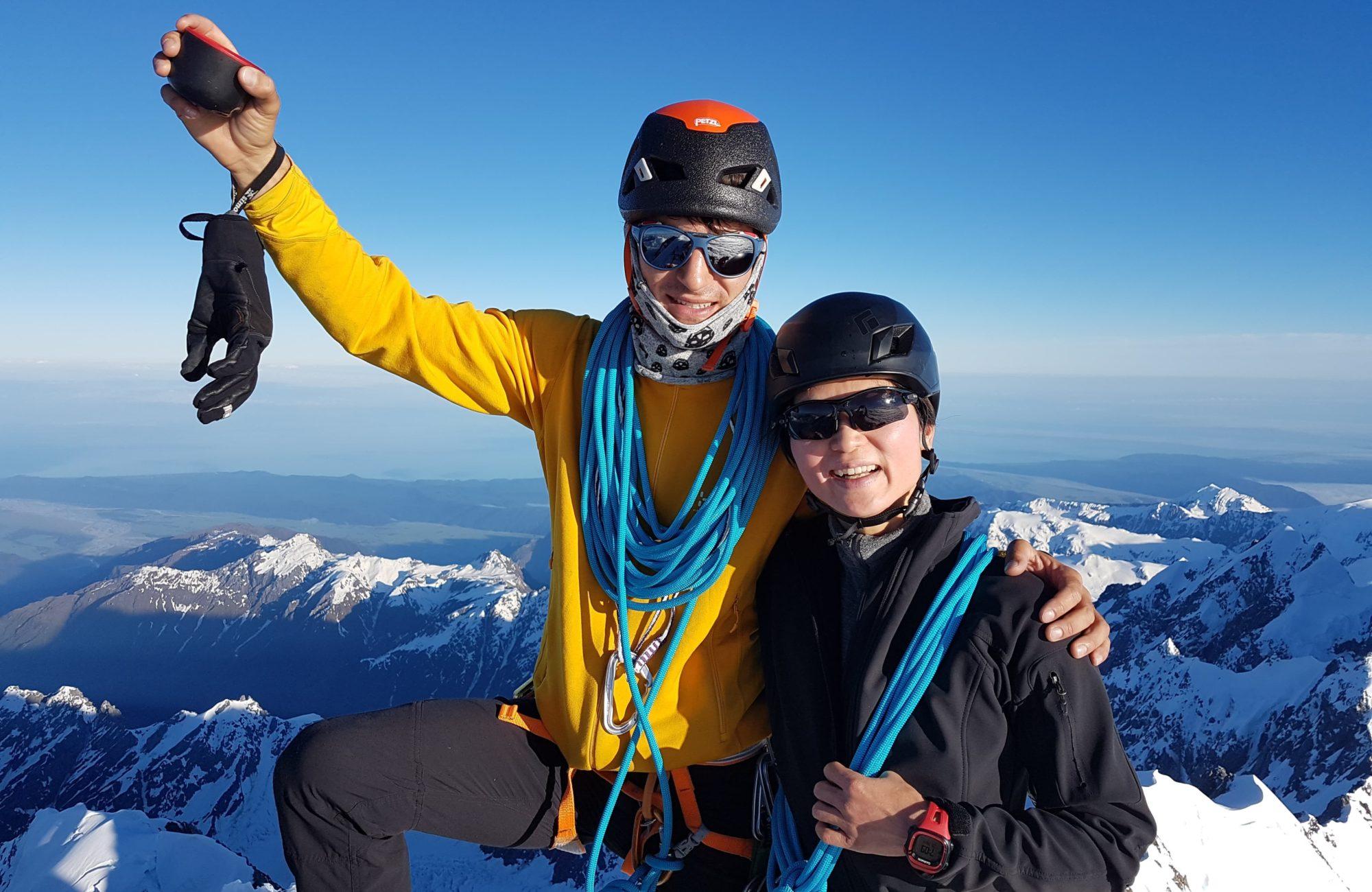 Mountaineers at Aoraki Mt Cook Summit