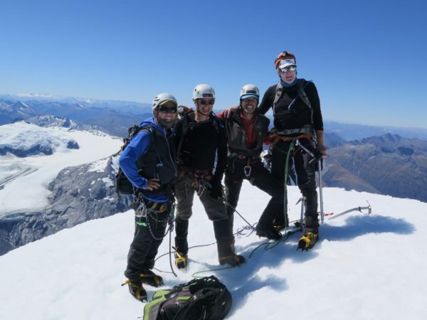 Blue sky summits Mt Aspiring