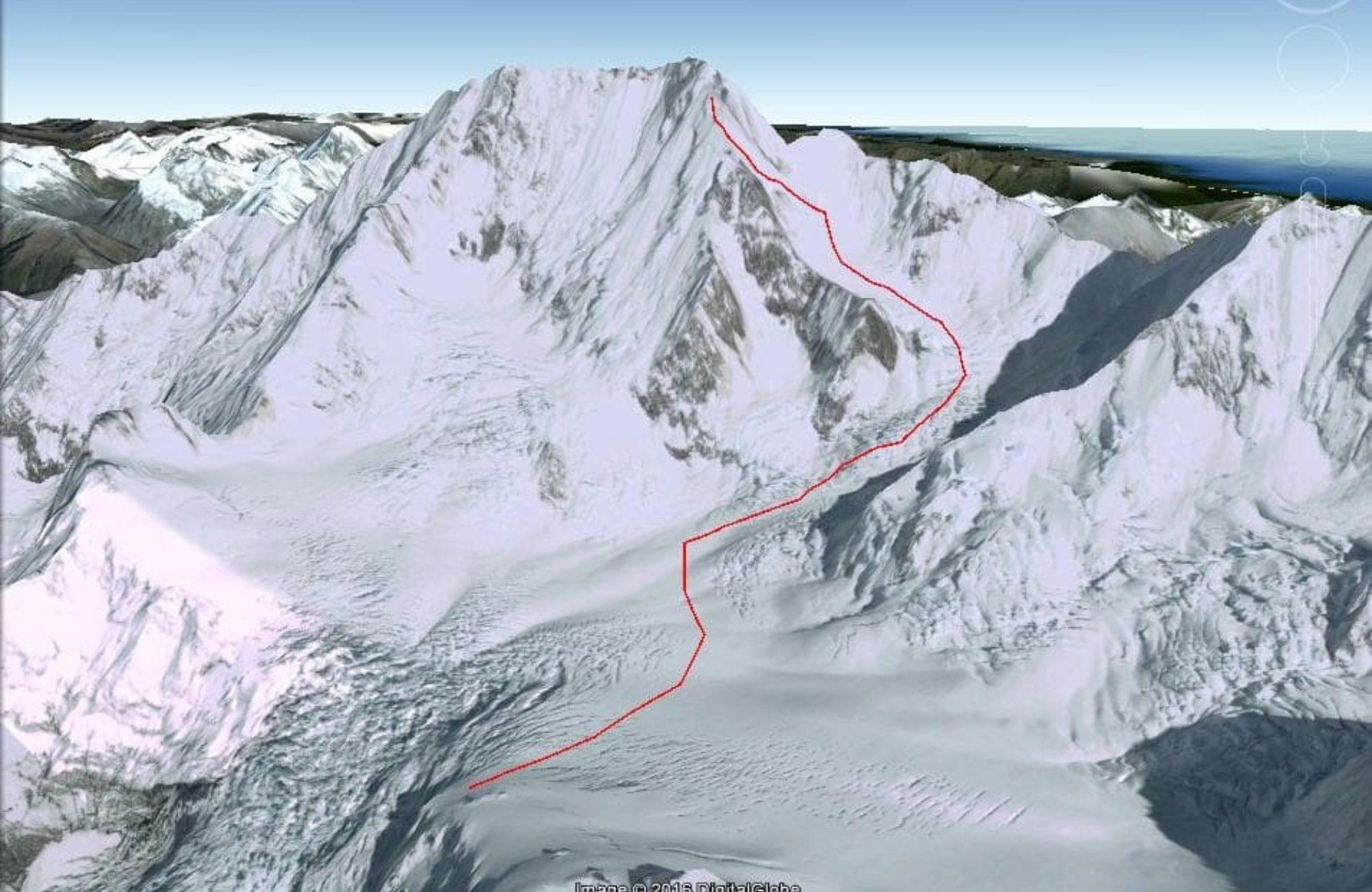 Linda Glacier Route