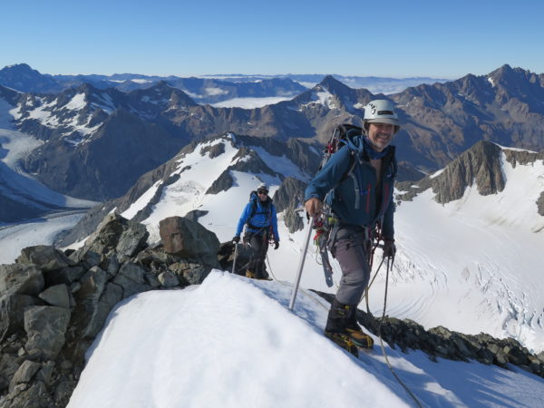 Private Guiding on the summits