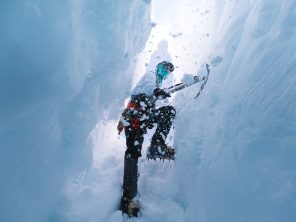 Ice axe technique training