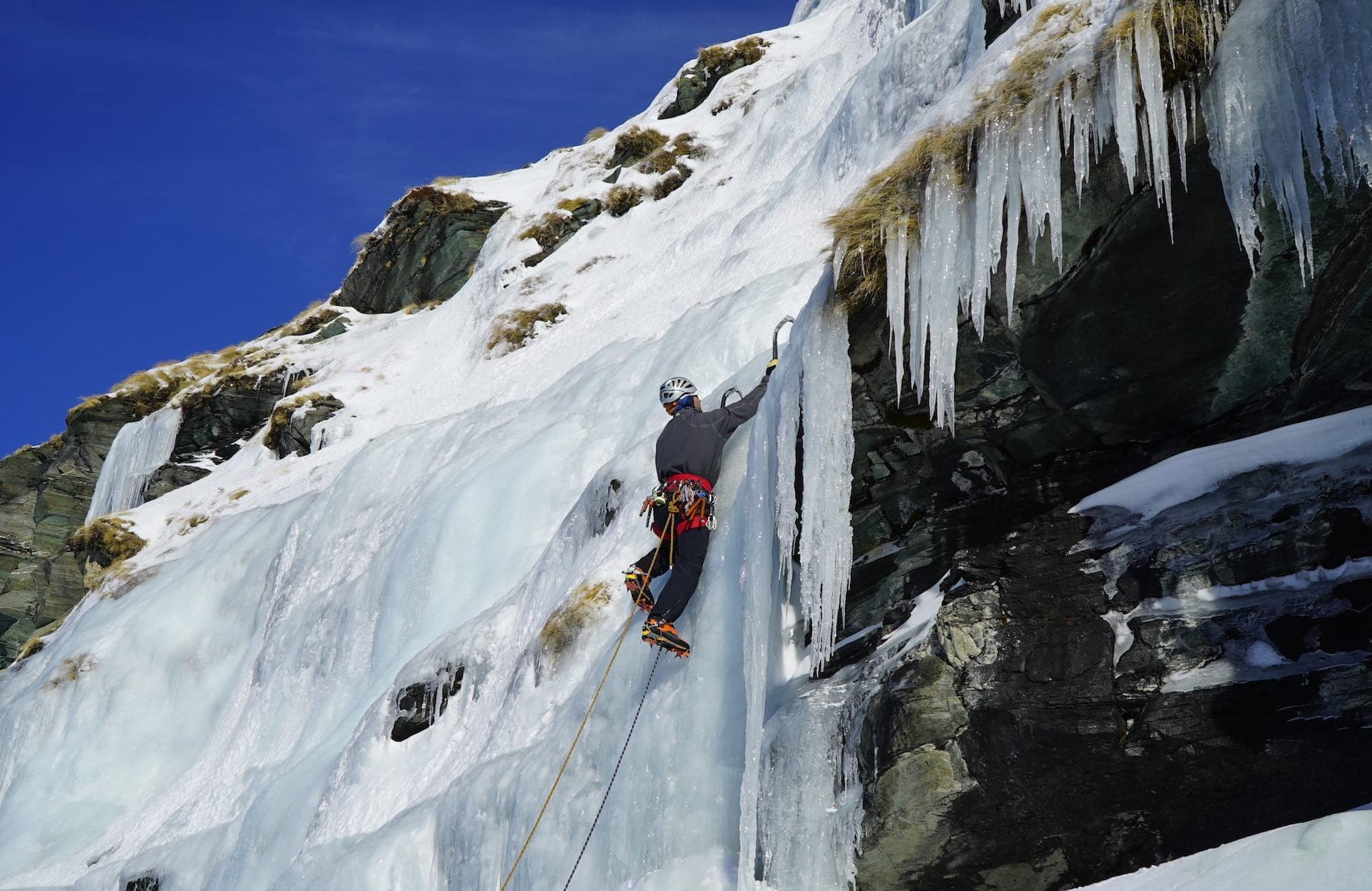 Ice Climbing Black Peak