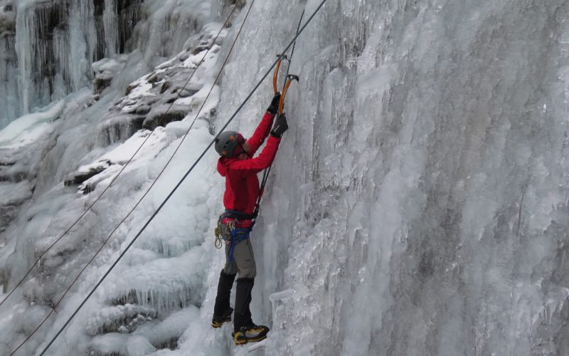 Ice Climbing with Aspiring Guides