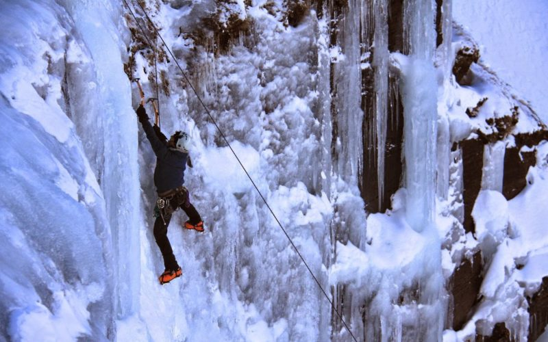 Winter Ice Climbing