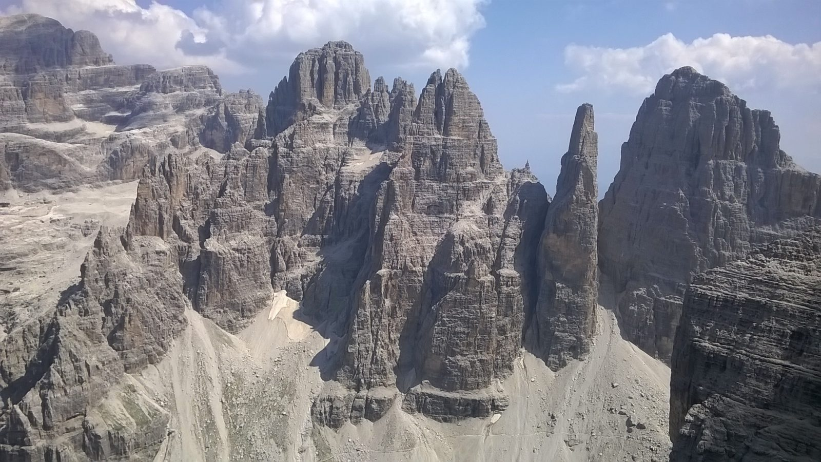 The Core of the Brenta Dolomites there is a path throgh the big rocky towers