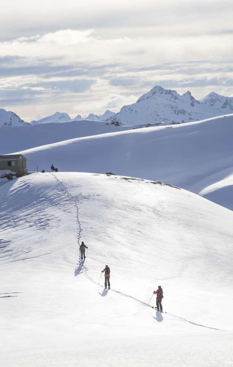 Black Peak Hut NZ