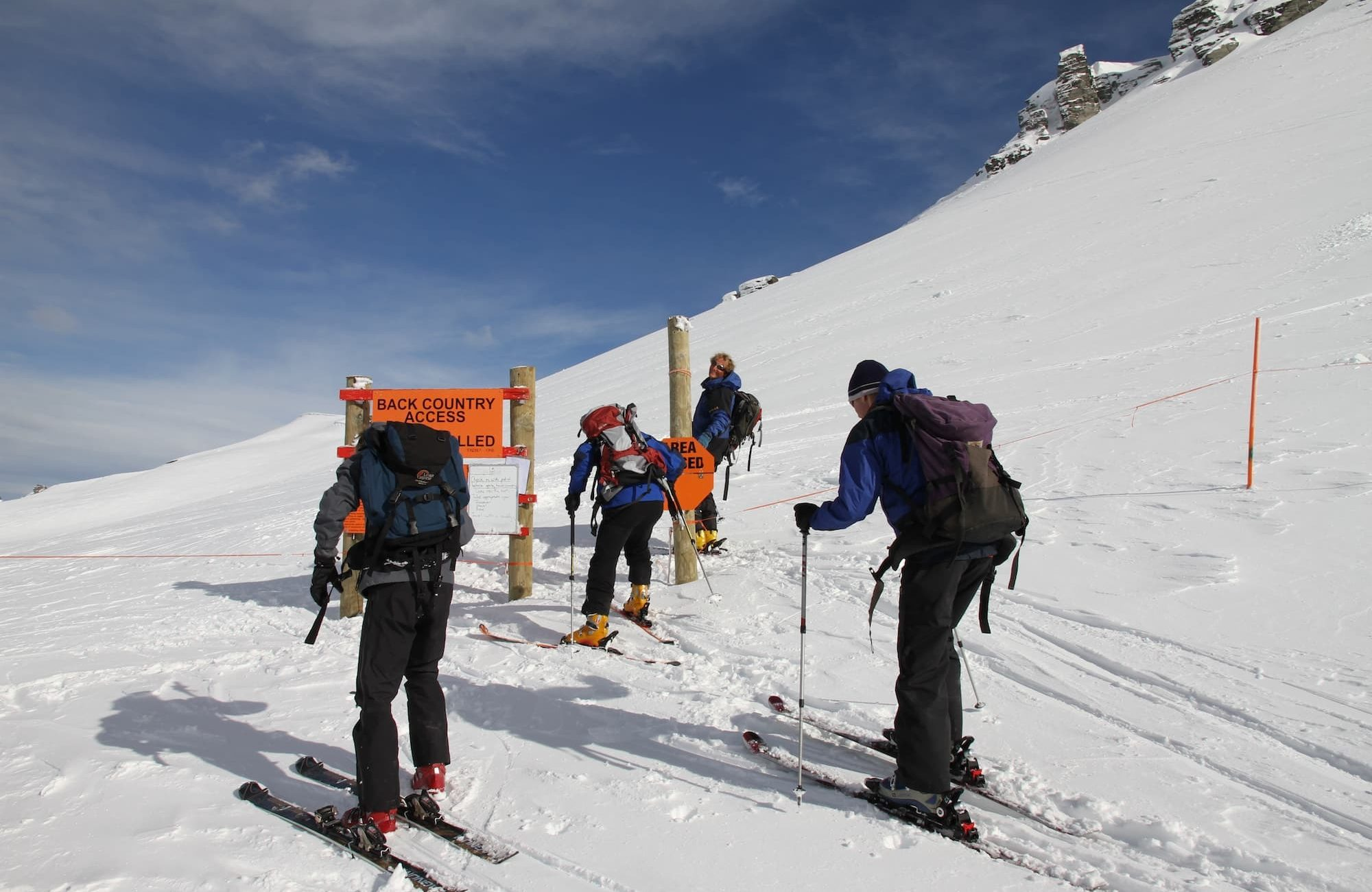 Ski touring for avalanche awareness field day
