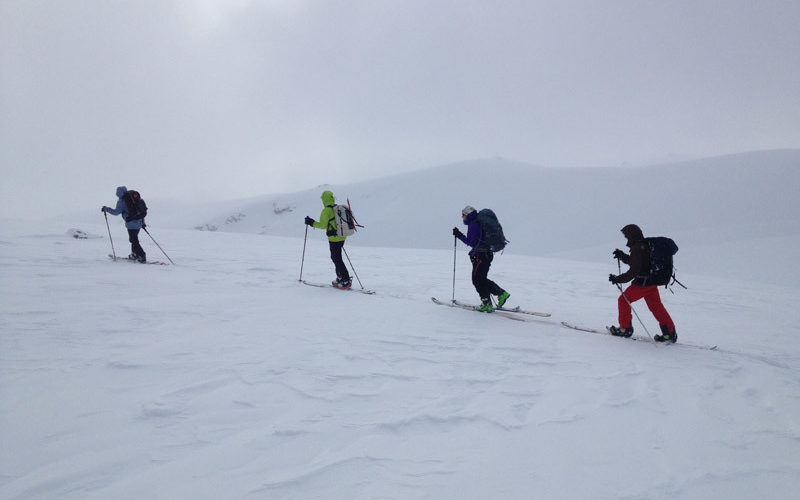 Earning your turns on the Pisa Range