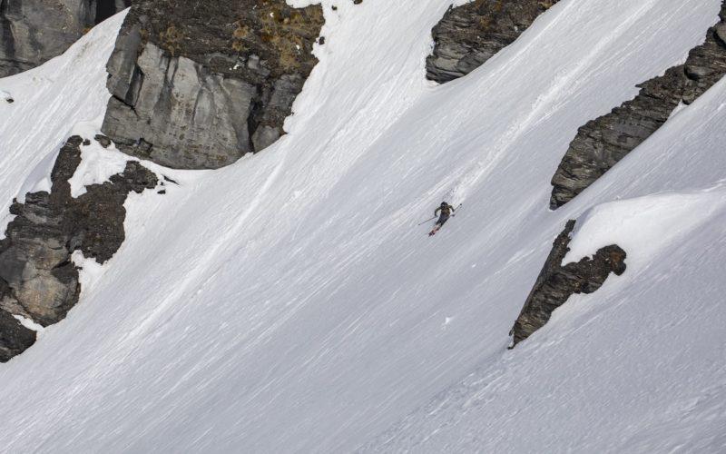 Interesting terrain touring out of Black Peak Hut