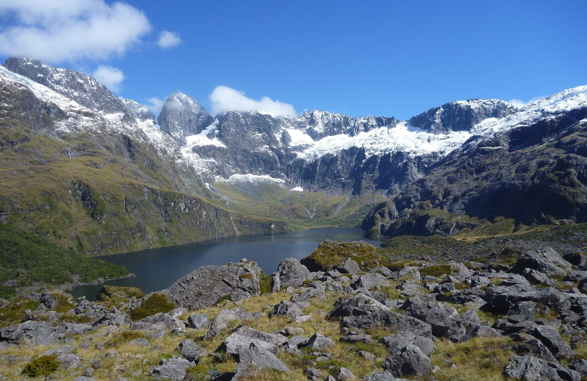 Lake Adelaide and the cirque headwall