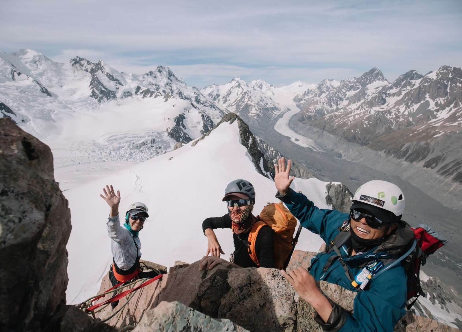 Students on a Mountaineering Skills Course with Aspiring Guides' Matt Cherubino
