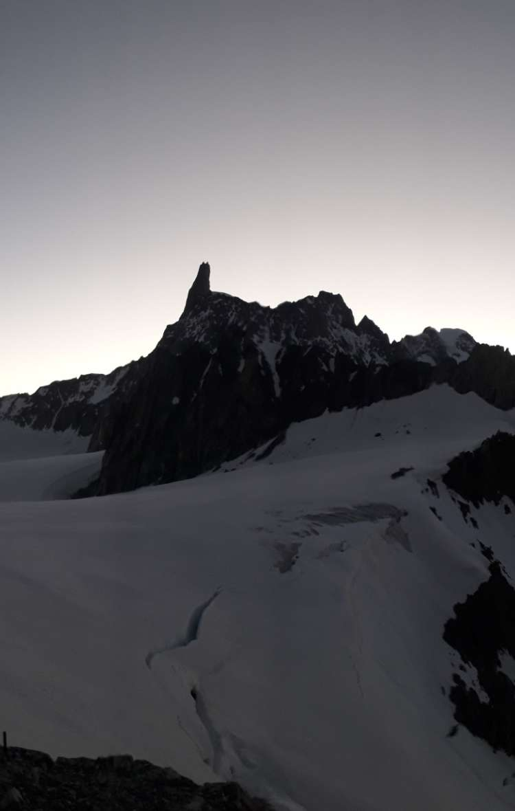 First light on the summit with Aspiring Guides